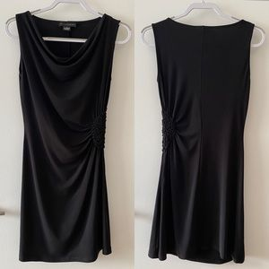 Grace Elements Drape Collar Sleeveless Black Dress